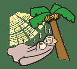 gibbon monkey Aidan sticker #10137739