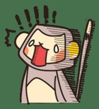 gibbon monkey Aidan sticker #10137741