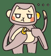 gibbon monkey Aidan sticker #10137746