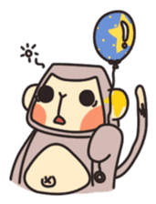 gibbon monkey Aidan sticker #10137748