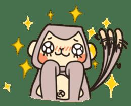 gibbon monkey Aidan sticker #10137749