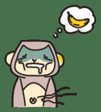 gibbon monkey Aidan sticker #10137753