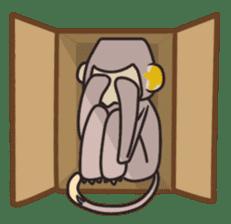 gibbon monkey Aidan sticker #10137756