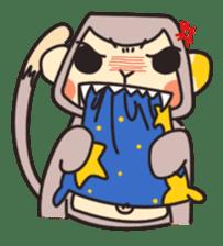 gibbon monkey Aidan sticker #10137757