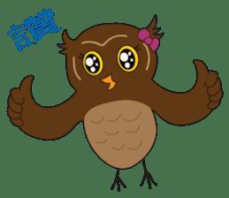 Momo Owl sticker #10138687