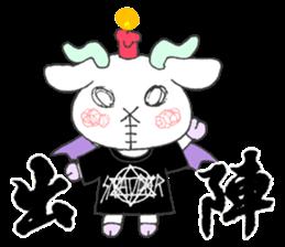 metal monster BAT GOAT sticker #10139841