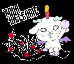 metal monster BAT GOAT sticker #10139859