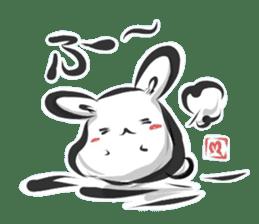 """kanji"" rabbit (Japanese) sticker #10141251"