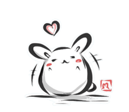 """kanji"" rabbit (Japanese) sticker #10141253"
