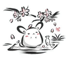 """kanji"" rabbit (Japanese) sticker #10141263"