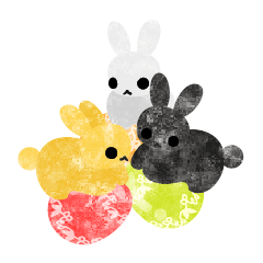Pretty Little Rabbits Sticker