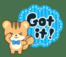 Sticker of a squirrel<English> sticker #10149052