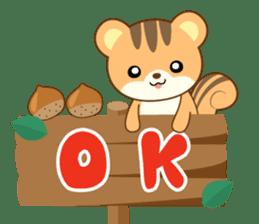 Sticker of a squirrel<English> sticker #10149053