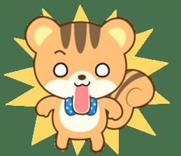 Sticker of a squirrel<English> sticker #10149058