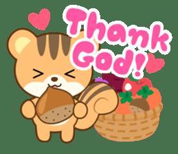 Sticker of a squirrel<English> sticker #10149060