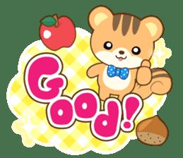 Sticker of a squirrel<English> sticker #10149063