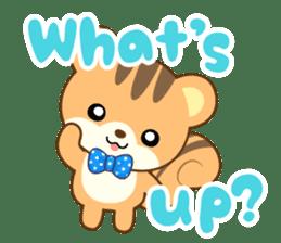 Sticker of a squirrel<English> sticker #10149065