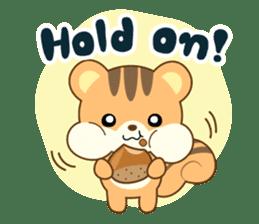 Sticker of a squirrel<English> sticker #10149076