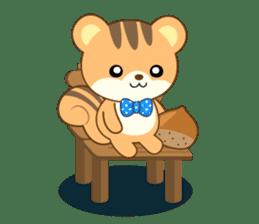 Sticker of a squirrel<English> sticker #10149087