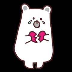 Sticker of polar bear everyday