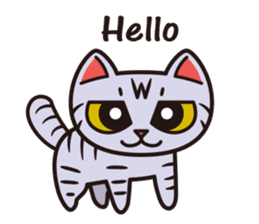 Sue of a tabby cat English version sticker #10162936