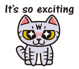 Sue of a tabby cat English version sticker #10162938