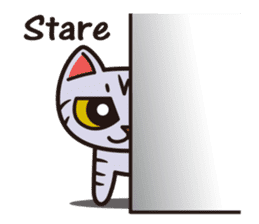 Sue of a tabby cat English version sticker #10162939