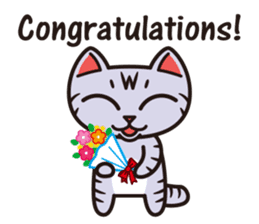 Sue of a tabby cat English version sticker #10162944