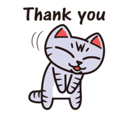 Sue of a tabby cat English version sticker #10162945