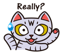 Sue of a tabby cat English version sticker #10162949