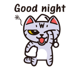 Sue of a tabby cat English version sticker #10162952