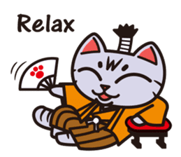 Sue of a tabby cat English version sticker #10162953