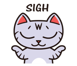 Sue of a tabby cat English version sticker #10162954
