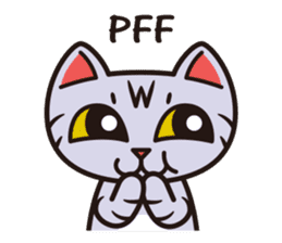 Sue of a tabby cat English version sticker #10162956