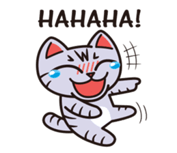 Sue of a tabby cat English version sticker #10162957