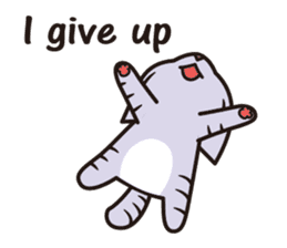 Sue of a tabby cat English version sticker #10162958