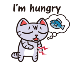 Sue of a tabby cat English version sticker #10162959