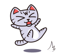 Sue of a tabby cat English version sticker #10162961