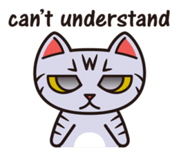 Sue of a tabby cat English version sticker #10162965