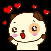 สติ๊กเกอร์ไลน์ Pandadog : เพื่อนตัวป่วน