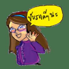 Eye-glasses Girl 's world sticker #10184272