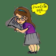 Eye-glasses Girl 's world sticker #10184276
