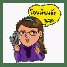 Eye-glasses Girl 's world sticker #10184290
