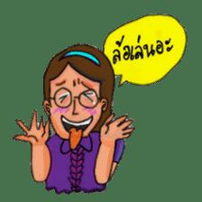Eye-glasses Girl 's world sticker #10184295