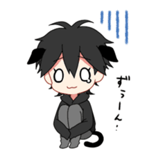 Cat boy ! sticker #10184690