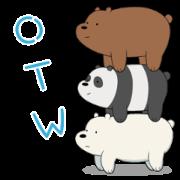 สติ๊กเกอร์ไลน์ We Bare Bears Animated Stickers