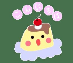cute flan sticker sticker #10204794