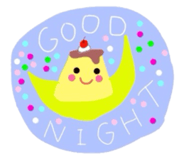 cute flan sticker sticker #10204797