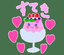 cute flan sticker sticker #10204802