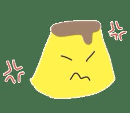 cute flan sticker sticker #10204805